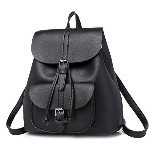 Lady Bag, zaino da donna, in pelle, casual, da viaggio, con fiocco, per la scuola