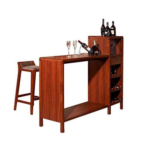 Goodvk Mesa de Barra de Desayuno Sala de Estar Comedor Comedor Simple Wall Cabinete de Vino Chino Mesa de Bar Mesa de Vitrina Piso Gabinete de Vino Rack Fuerte y Robusto