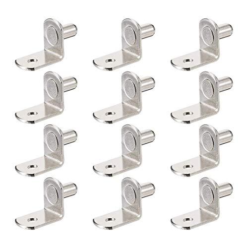 YeVhear - Soporte para estante de 6 mm en forma de L para armarios de muebles, tacos de soporte con agujero, para libros de muebles de cocina