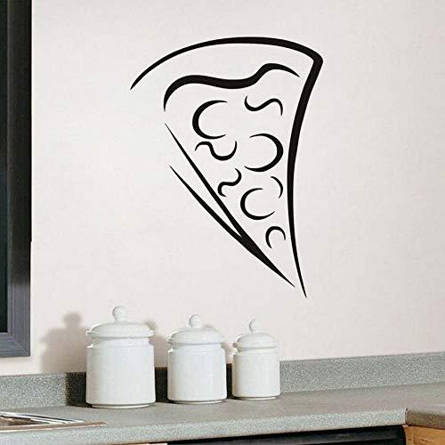 Adesivo da parete Pizza Slice Cucina Decalcomanie per porte vetrate Adesivi in vetro Decalcomania per la casa Rimovibile 58x79cm