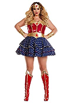 Party King Women s Wonderful Sweetheart Plus Size Costume Red/Multi 3X-Large