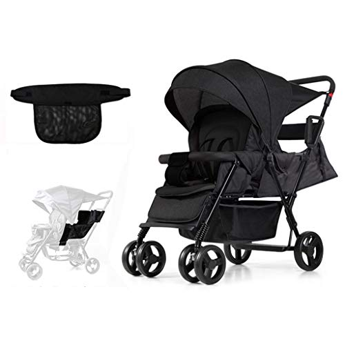 Lowest Price! Twin Baby Strollers Can Sit Reclining Foldable Light Double Baby Stroller,with Adjus...