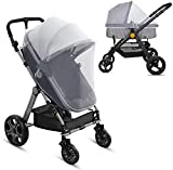LEMESO Stroller Baby Net - Universal & Elastic & Breathable - for Infant Carriers Car Seats Cradles Cribs Bassinet Playpen Travel Outdoor