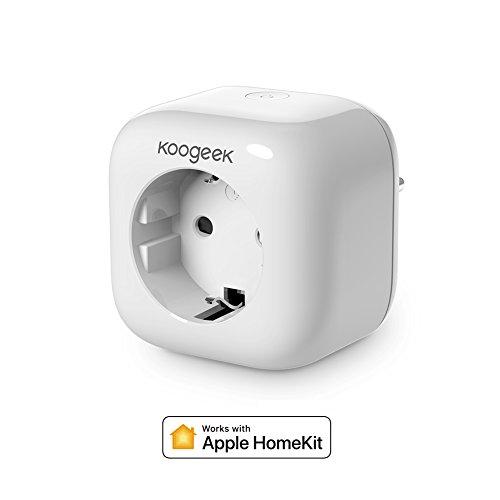 Koogeek Intelligente Steckdose, WLAN Smart Plug, 2,4GHz, kompatibel mit HomeKit, Siri und Alexa Home App, für iOS 9.0und Android 4.3