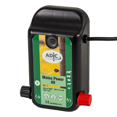 ADIC Weidezaungerät 230V - Mains Power 80, Netzgerät, für Weidezaun, Elektrozaun, elektrischer Weidezaun, Weidezaun elektrisch, ideal zum Hüten von Pferden, Rindern, Schweinen, Haustieren