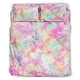 Corbata de color arcoíris para cama de 4 piezas, funda de edredón de 4 piezas con cremallera, incluye 1 funda de edredón y 1 funda de almohada blanca de 228 x 264 cm