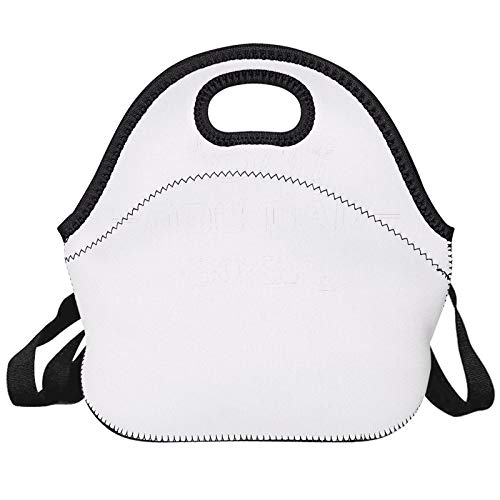 Lunch Tote, Insulated Large Cooler Lunch Bag, Reusable Washable Lunch Box With Shoulder Strap For Men/Women/School White Gray Best DOG DAD EVER