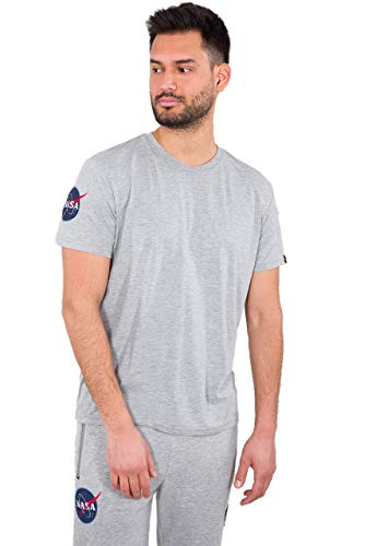 ALPHA INDUSTRIES Herren T-Shirts NASA grau L