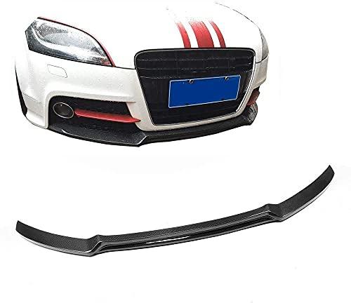 MJCDNB Para A u d i TT Mk2 8J 2013 2014 Tts 2009-2015 Coupe Delantal Delantero de Fibra de Carbono Labio Barbilla Spoiler Labio Delantero