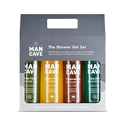 ManCave Duschduft Geschenk-Set – 4 Signature Duschgels – exklusiv von Amazon