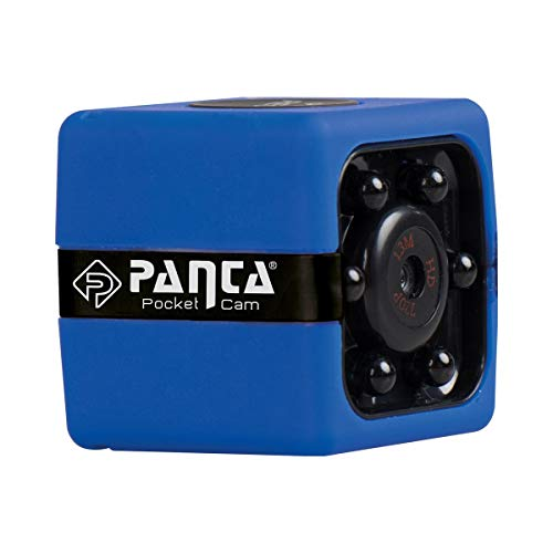 Panta Pocket Cam, tragbare, kleine, kompakte Überwachungskamera, Bewegungssensor, Nachtsicht, integriertes Mikrofon, Dashcam, Bodycam, Mini-Überwachungs-Kamera, Sicherheit【8GB microSD Karte】