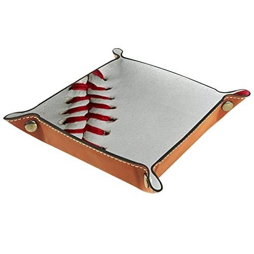 Bandejas deportivas de béisbol para hombres, organizador de mesita de noche, organizador de mesa de entrada, bandeja de dados, organizador de aparador