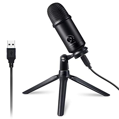 Victure USB Microphone for Computer, Metal Condenser Recording Mic Kit for PC Laptop MAC or Windows Cardioid Studio Recording Vocals, Streaming Podcast and YouTube Videos Conference Gaming