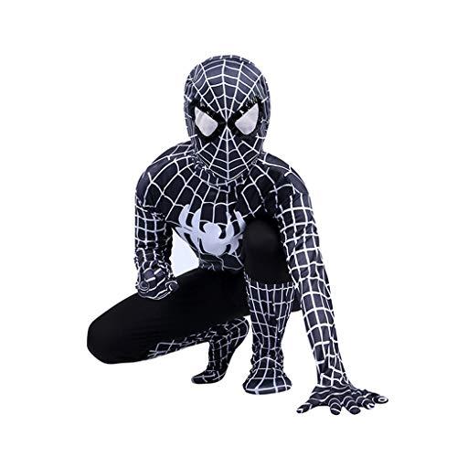 YeMao Body da Supereroe per Bambini Classic Spiderman Series 3D Halloween Cosplay Zentai Costumes Puntelli,B- 120~130cm