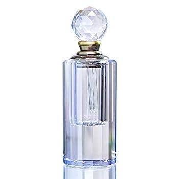 Light Blue Crystal Empty Perfume Bottle Mini Refillable Stopper Gift for Lady Wedding Decor 5ml