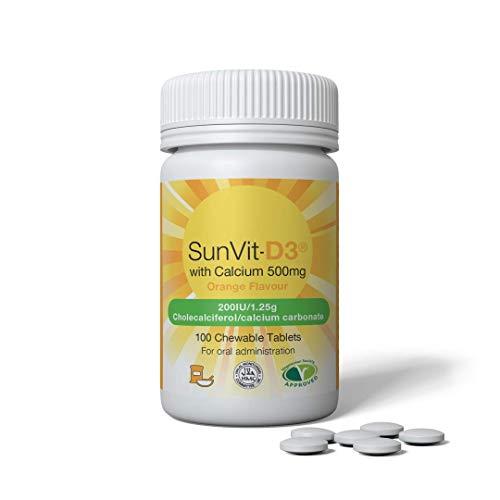 SunVit-D3 200iu Calcium Chewable Tablets - Orange Flavoured - Daily DOSE