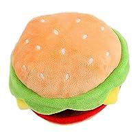 SHUOYUE ペットぬいぐるみ犬のおもちゃかわいいペットの犬のおもちゃ食品犬猫子犬のおもちゃトゥートリス犬チューSqueakの玩具を噛ん (Color : Hamburger, Size : M)