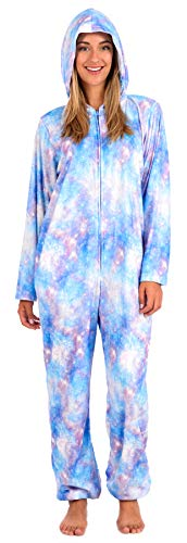 Body Candy Women's Plush Adult Animal Hood Onesie Pajama (Celestial, Large)