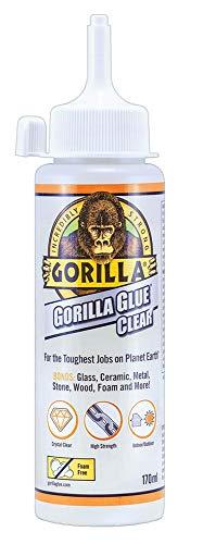 Gorilla Glue Clear – 170 ml, Klebefarbe transparent, Klebstoff-Typ-Greifer, Dosierungsmethode, Volumen 170 ml, klebende Chemikalien