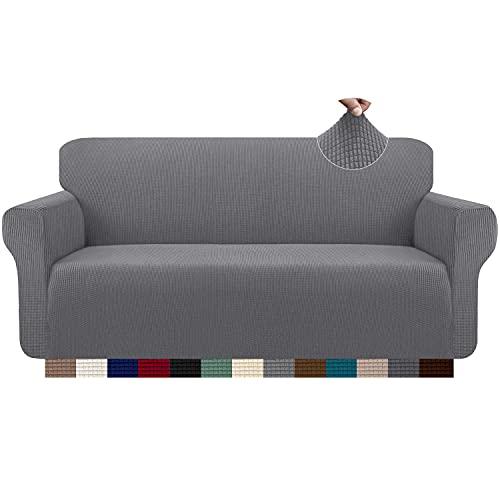 Granbest - Funda de sofá, extensible, jacquard, 1 pieza para sofá de 3 plazas, con reposabrazos