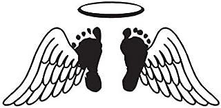 Baby Feet Memorial Angel Wings - Vinyl Decal Sticker - 7.75