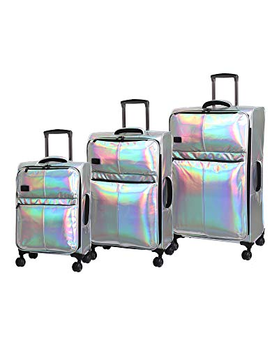 it Girl Spellbound 8 Wheel Holographic Lightweight Expandable 3 Piece Set, Silver