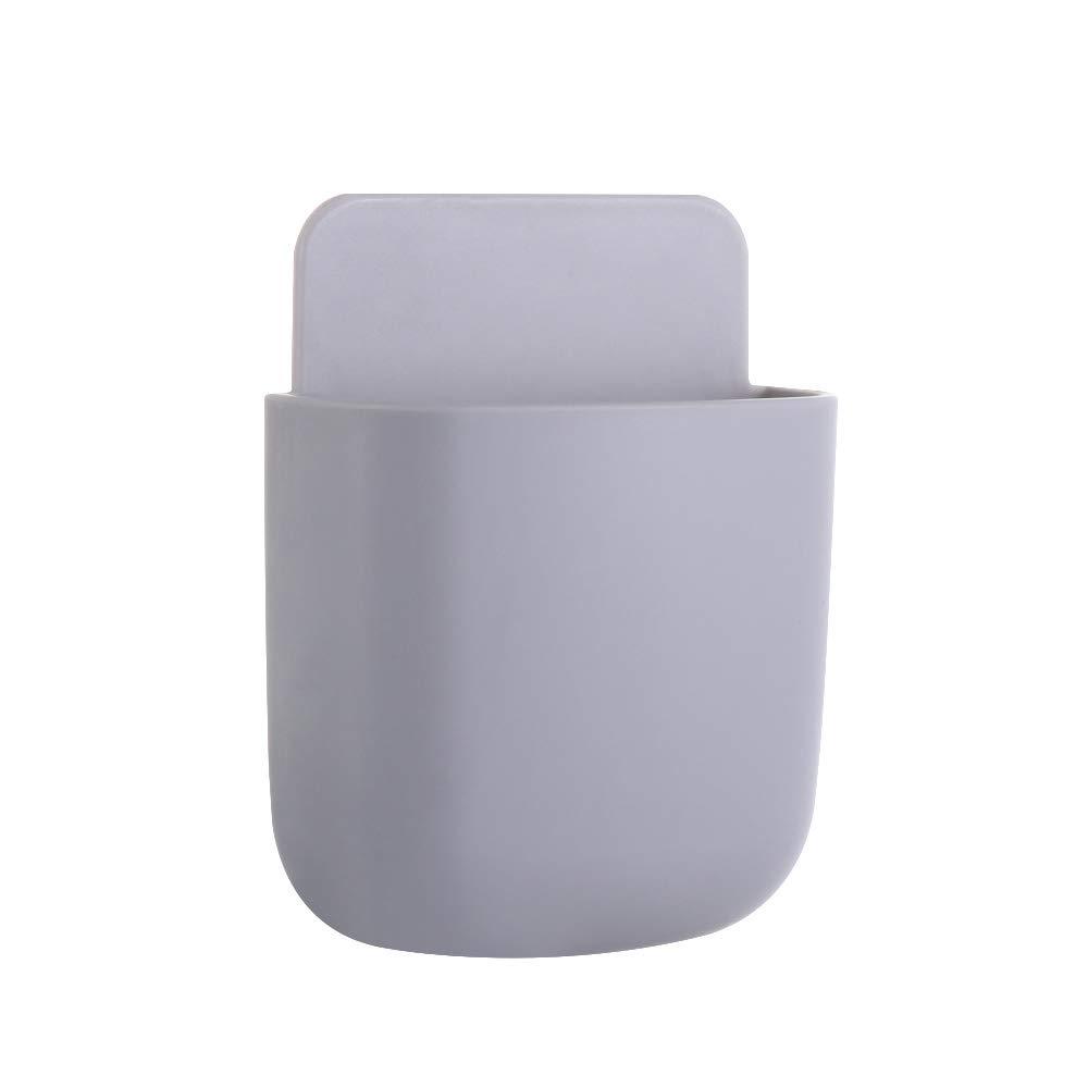Shruj Home Decor Caja de almacenamiento de aire acondicionado caja de almacenamiento fija en la pared soporte de mando a distancia organizador adhesivo, Gris, Large: Amazon.es: Hogar