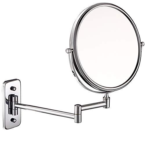 Ylmhe Baño Espejo Caras Montaje Pared Aumentador Espejos de Maquillaje 360 ° Rotativo Plegable Extensible Brazo (8 Pulgadas),5X