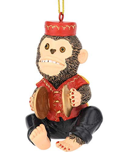 Tree Buddees Retro Wind up Toy Cymbals Monkey Funny Christmas Ornaments