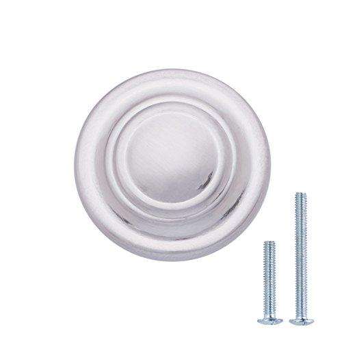 AmazonBasics - schuifladenknop, meubelgreep, klassiek, met ring-look boven, diameter: 3,17 cm Verpakking van 10 stuks. Durchmesser: 3,17 cm Gesatineerd nikkel.