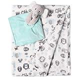 Baby Blanket Plush Fleece with Security Blanket Snuggler Stuffed Animal Loveys for Boys and Girls, Blue Elephant-2