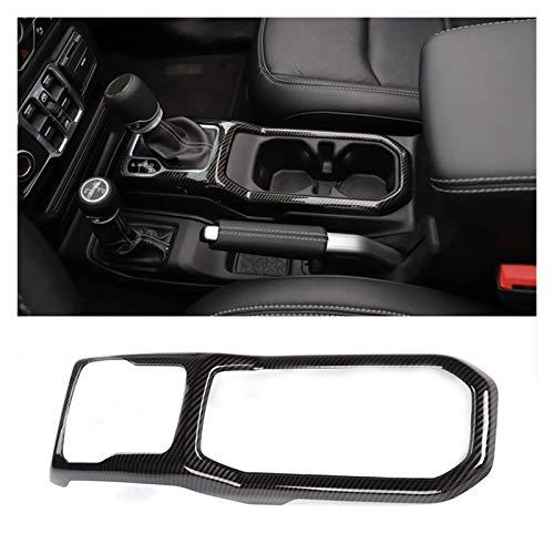 Hermoso Cubierta de Panel de Cambio de Engranaje Frame de Ajuste Interior para 2018-2019 Jeep Wrangler JL Accesorios para automóviles (Fibra de Carbono) (Color Name : Black)