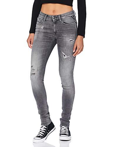 REPLAY New LUZ Jeans, 096 Medium Grey, 26W x 30L para Mujer