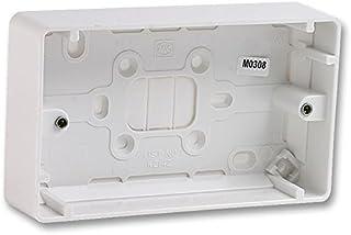 2 Gang Surface Box - 40mm Deep