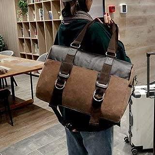 Luggage & Bags Soft Nylon Cloth Shoulder Bag Sports Gym Travel Handbag (Black) (Color : Brown)