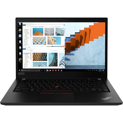 Lenovo ThinkPad T14 Gen 1 20UD000EUS 14' Touchscreen Notebook - Full HD - 1920 x 1080 - AMD Ryzen 5 4650U Hexa-core (6 Core) 2.10 GHz - 16 GB RAM - 256 GB SSD - Glossy Black - Windows 10 Pro - AM