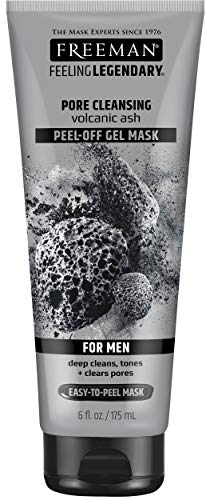 Freeman Pore Clearing Peel Off Gel Facial Mask with Volcanic Ash, Beauty Face Masks, 6 oz