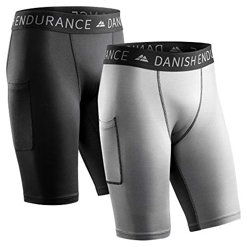 Compression Tights 2-Pack (Multicolor (1x Gris, 1x Negro), M)