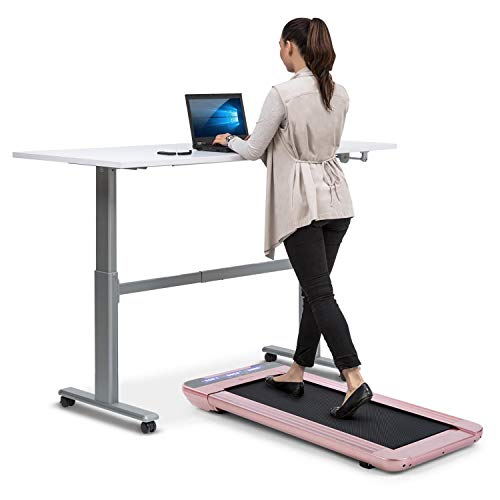 Capital Sports Workspace Go - Laufband, Tischlaufband & Office Cardio, Leistung: 350 Watt, Ultraflach mit nur 11 cm Höhe, nur 25 kg leicht, Slow Running bis 6 km/h, Lauffläche: 360 x 1000 mm, roségold