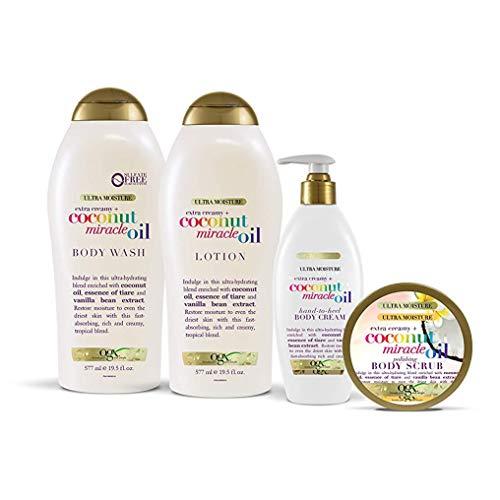 OGX Extra Creamy + Coconut Miracle Oil Ultra Moisture Body Wash, 19.5 Fl Oz