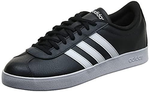 adidas VL Court 2.0', Zapatillas Hombre, Negro (Core Black/Footwear White/Footwear White 0), 45 1/3 EU