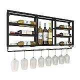 wantanshopping Botellero Vino Gabinete de Vino Decorativo Simple de la Pared Estante para Vino