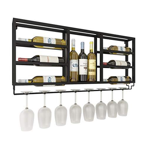 ZHANGJINYISHOP2016 Estante para Vino Soporte de Almacenamiento y cubilete de Botellas de Vino Simple montado en la Pared (Negro) Estantería de Botellas de Vino