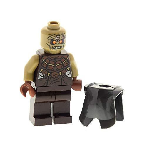 LEGO 1 x System Figur Mordor Orc kahl dunkel braun beige mit Rüstung Brustpanzer perl dunkel grau Der Hobbit Der Herr der Ringe Lord of The Rings 79008 2587 973pb1129c01 lor068