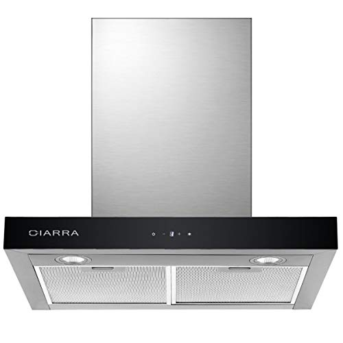 CIARRA CBCS6102 Touch Control Chimney Cooker Hood 60 cm Wall...