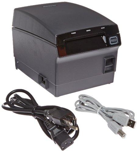 "Bixolon SRP-F310 Waterproof Monochrome Desktop Thermal Receipt Printer With USB Ethernet Interface, 10.63 in/s Print Speed, 180 dpi Print Resolution, 2.83"" Print Width, 24 VAC, Black"