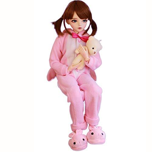 Dytxe-doll 1/3 BJD SD-Puppe 23.6 Zoll Spielzeug 60 cm Gemeinsamer Cosplay Modepuppe Aller Kleidung Kleidung Schuhe Perücke Makeup Gift Collection