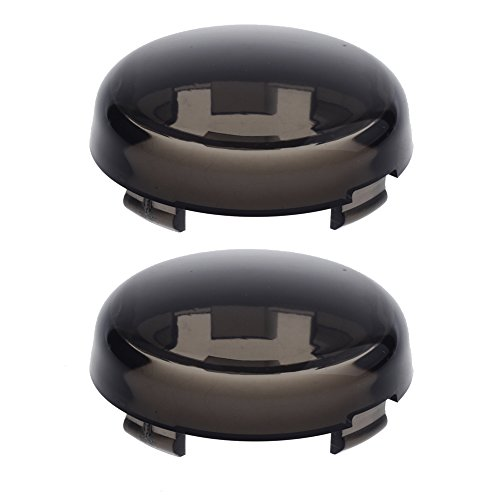NTHREEAUTO Turn Signal Lights Lens Cover Compatible with Harley Dyna Fatboy Softail Road Glide