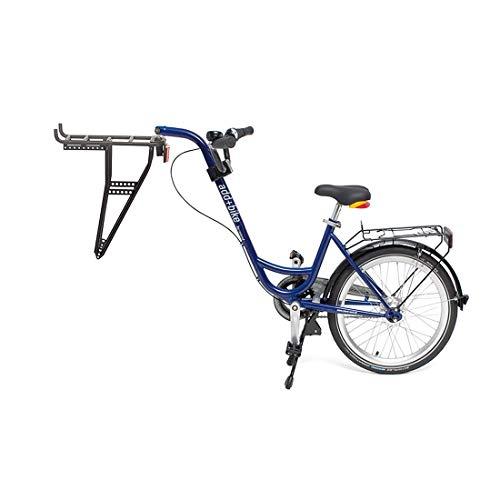 ROLAND Unisex– Erwachsene Trailer add + bike-3091803400 Bike, Blau, One Size