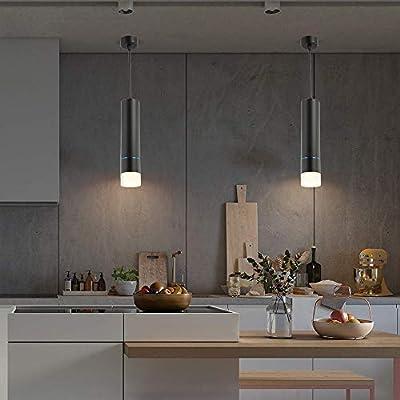 Buy Nurluce Pendant Lighting For Kitchen Island 15w Led Black Pendant Lights Adjustable Cord Hanging Lights For Bedroom Bedside Lamps Online In Indonesia B07rw8jdx6